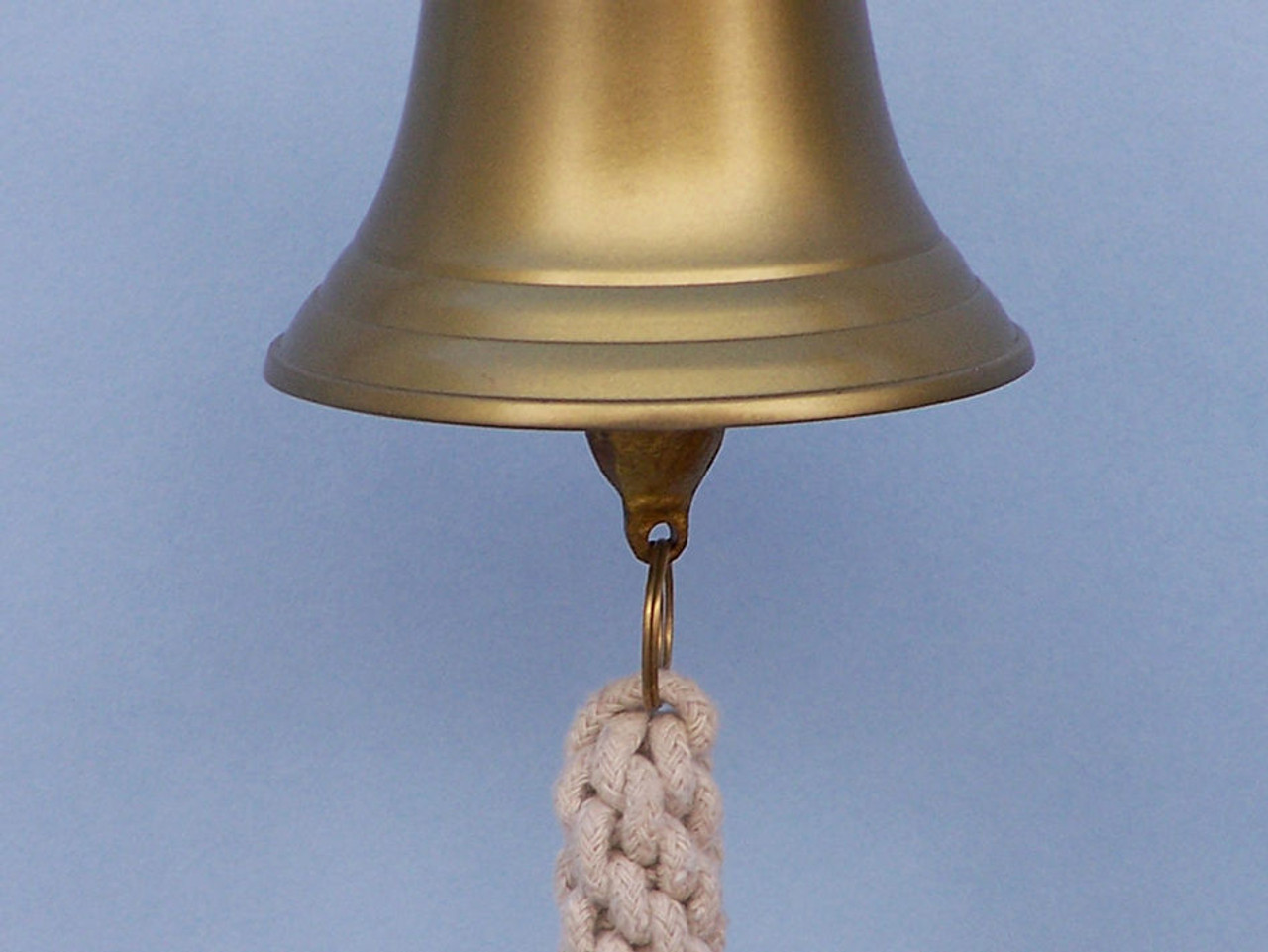 Antiqued Brass Finish Ships Bell Nautical Wall Decor