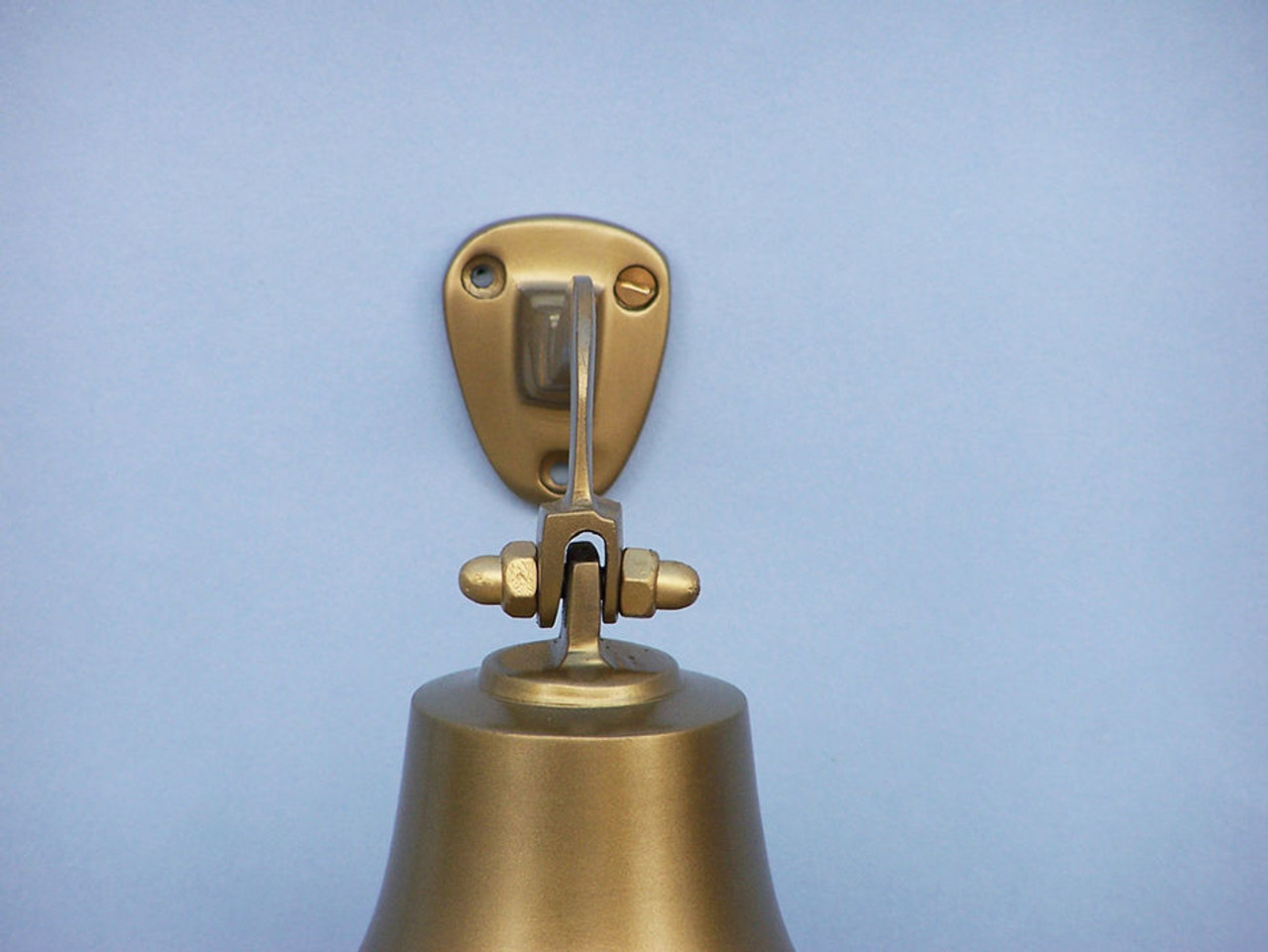 "Antiqued Brass Finish Solid Aluminum Ship's Bell 4"" Wall Decor"