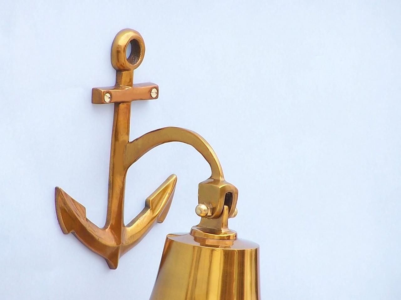 Brass Plated Cast Aluminum Ship's Bell 6 5