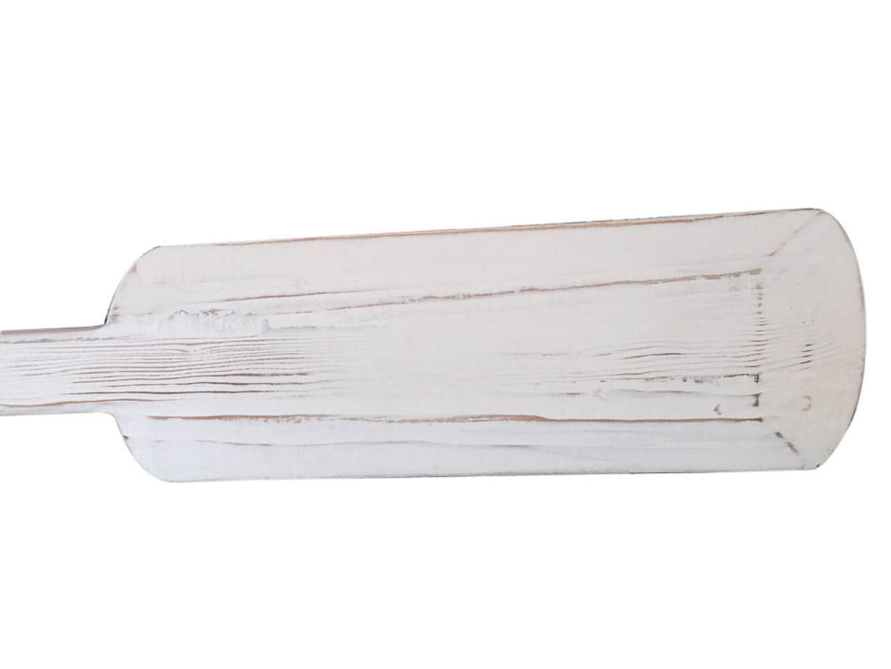 Decorative Wooden Rowing Oar Driftwood Bright White