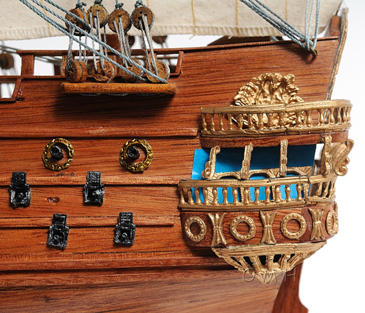 San Felipe Spanish Galleon Ship Model Display Case