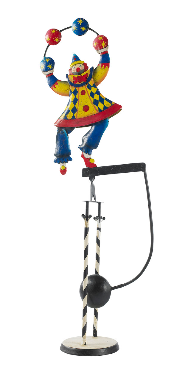 Circus Clown Ornament Sky Hook Figurine Teeter Totter