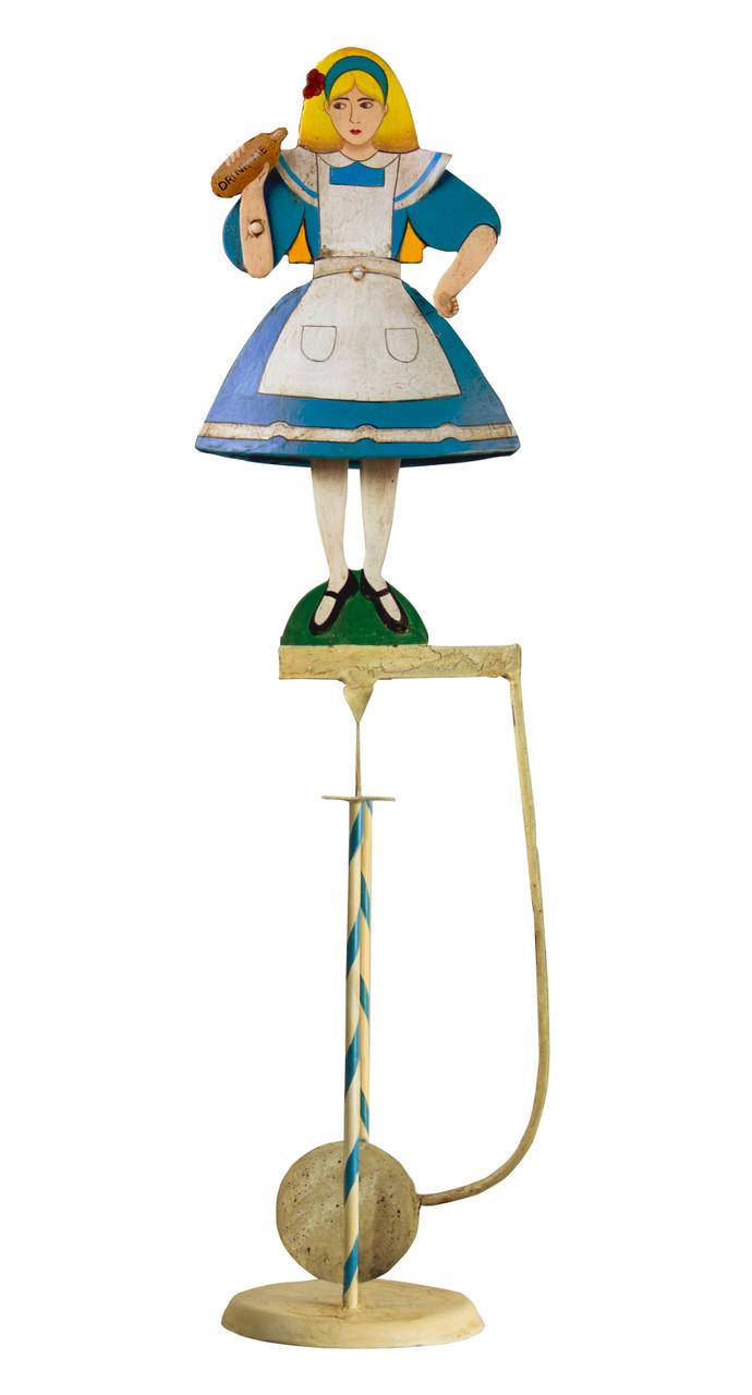 Alice in Wonderland Sky Hook Figurine Teeter Totter Antiqued