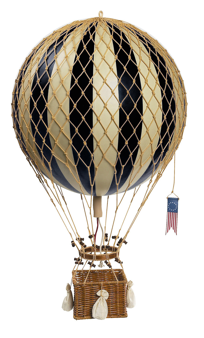Hot Air Balloon Model Black Aviation Ceiling Decor