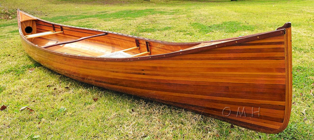 Cedar Wood Strip Built Canoe Without Ribs