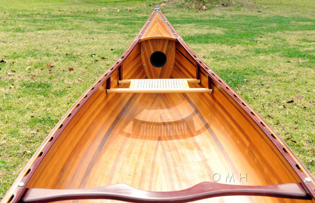 Cedar Wood Canoe Wooden Boat Without Ribs