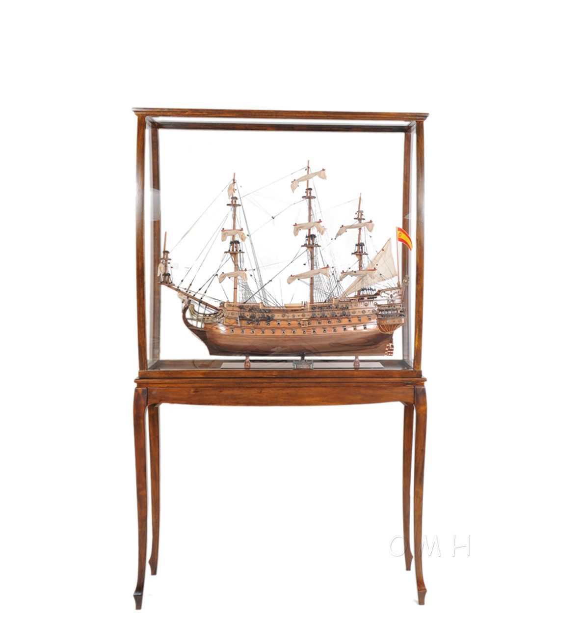 Tall Ship Model Wood Display Case XL Legs