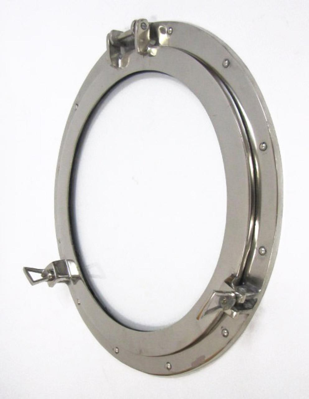 "11/"" Brass Porthole Mirror ~ Nautical Maritime Wall Decor ~ Ship Cabin Window"