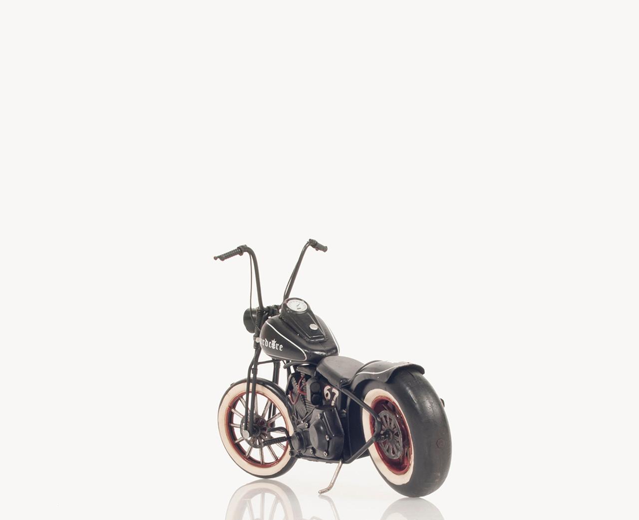 60s Harley Davidson Old Hardtail Chopper Motorcycle Metal Model