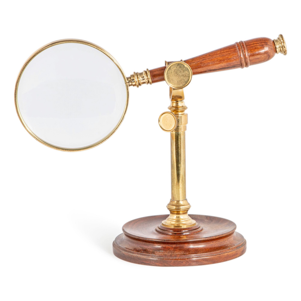 Hands Free Magnifier Magnifying Glass Wood Stand 3x Reading