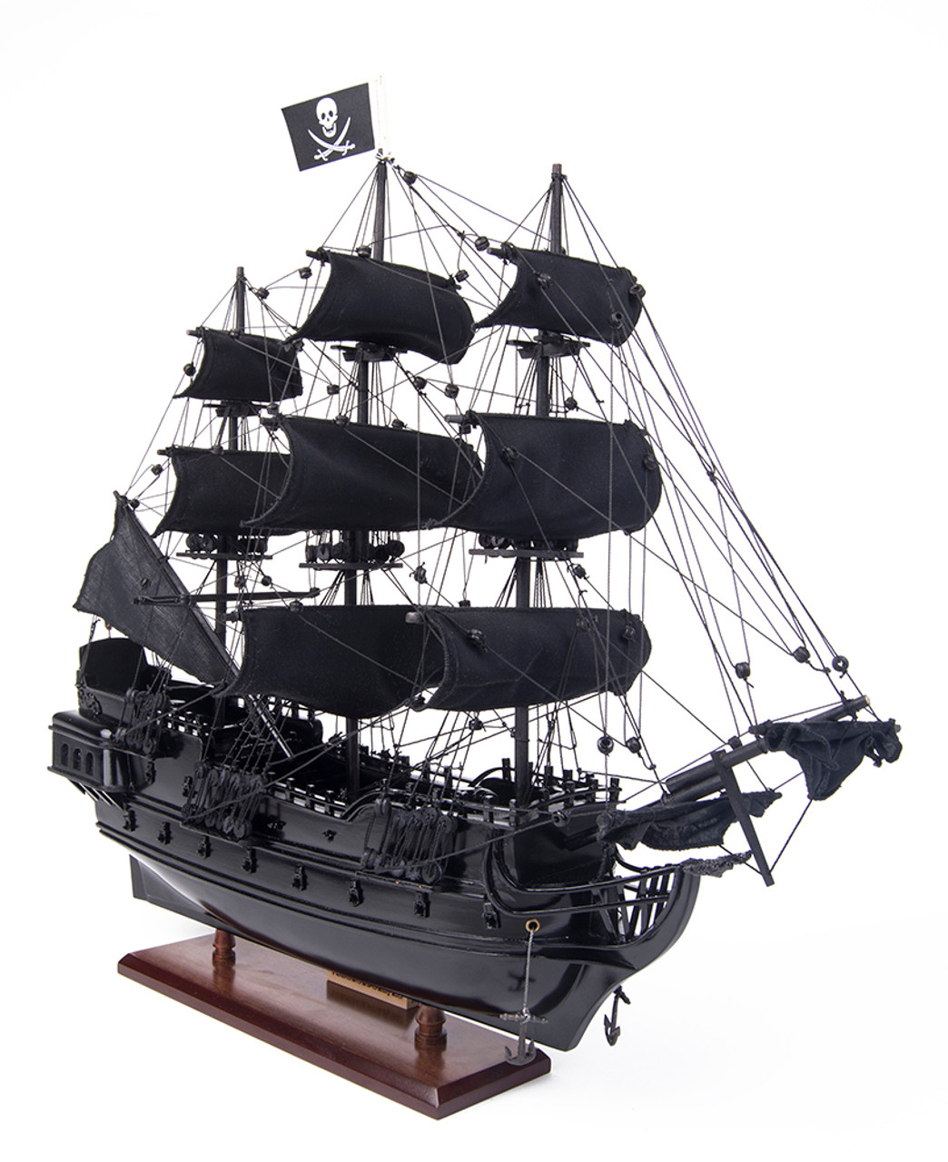 "Small Black Pearl Caribbean Pirate Tall Ship Wood Model 20/"" Fully Assembled New"