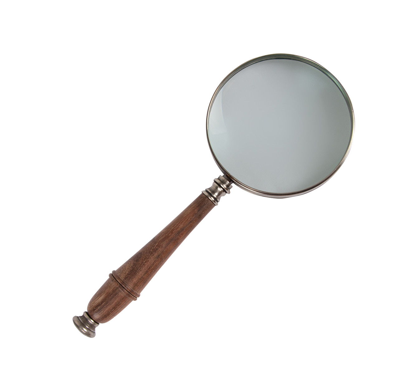 Magnifier Magnifying Glass Silver Rosewood 3x Reading Device