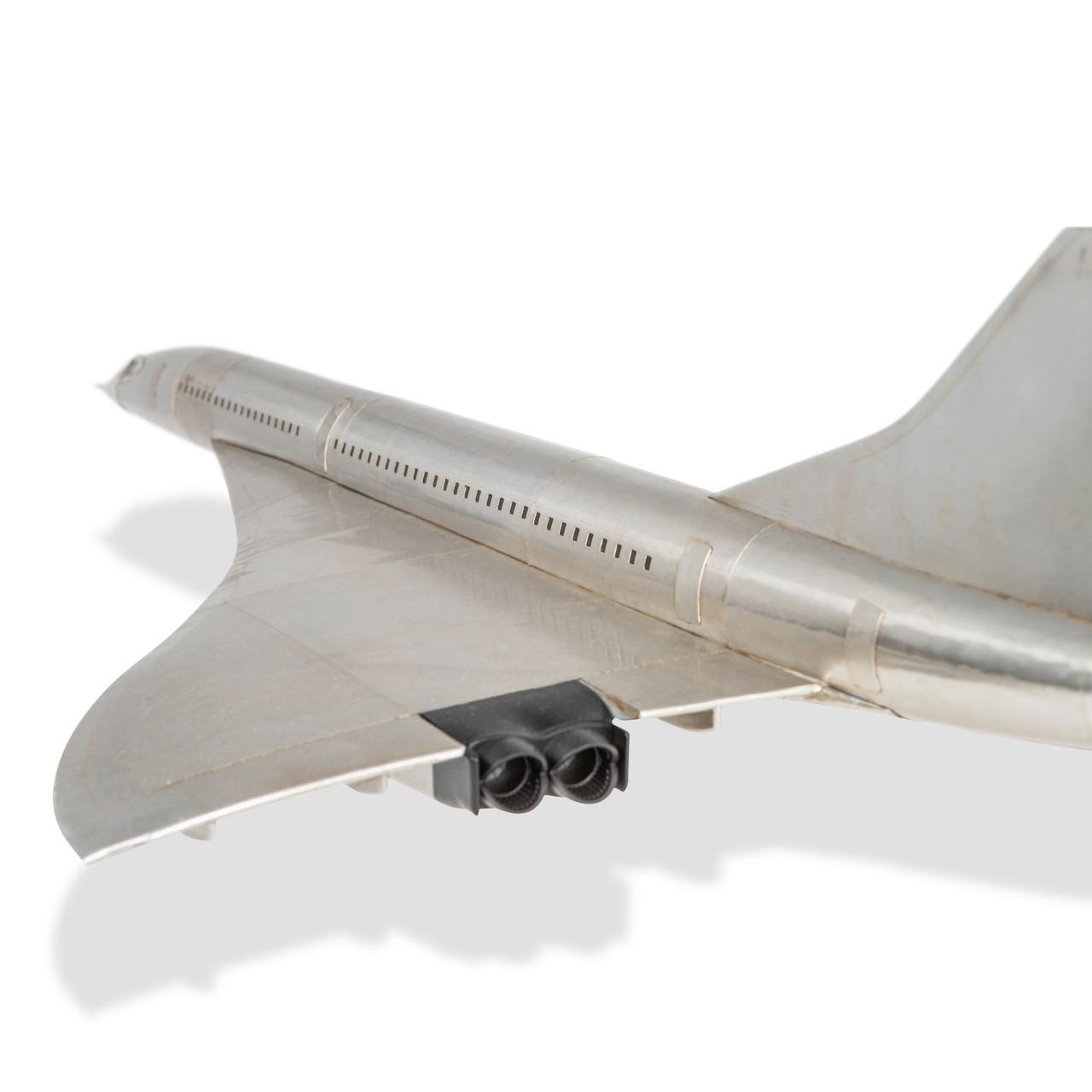 Concorde British Airways Air France Airliner Model Aluminum
