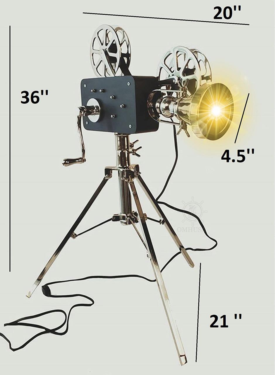 Movie Film Projector Floor Lamp Replica Hollywood Decor