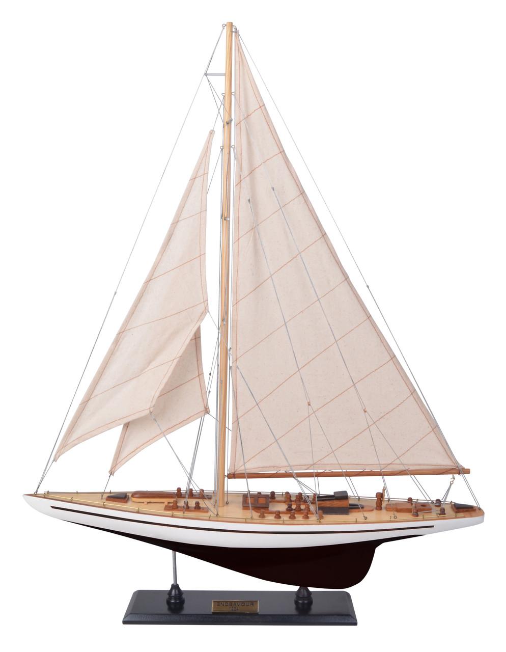 Endeavour Black White Yacht Model Americas Cup J Class