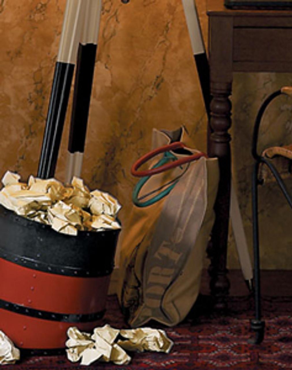 Titanic Ships Funnel Wastebasket Trash Can Cunard Line Decor