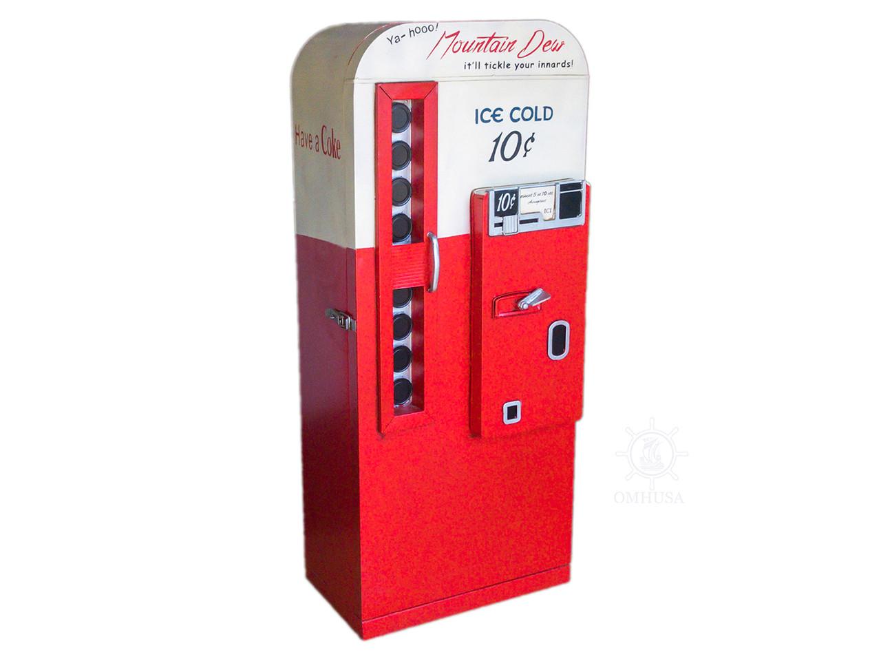 Mountain Dew Coke Soda Pop Vending Machine Cabinet