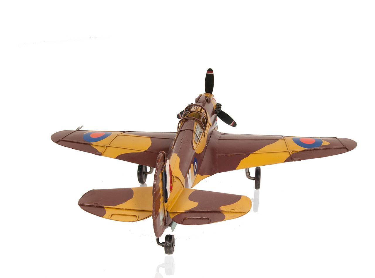 Curtiss 81A Hawk P-40B Warhawk Fighter Plane Metal Model