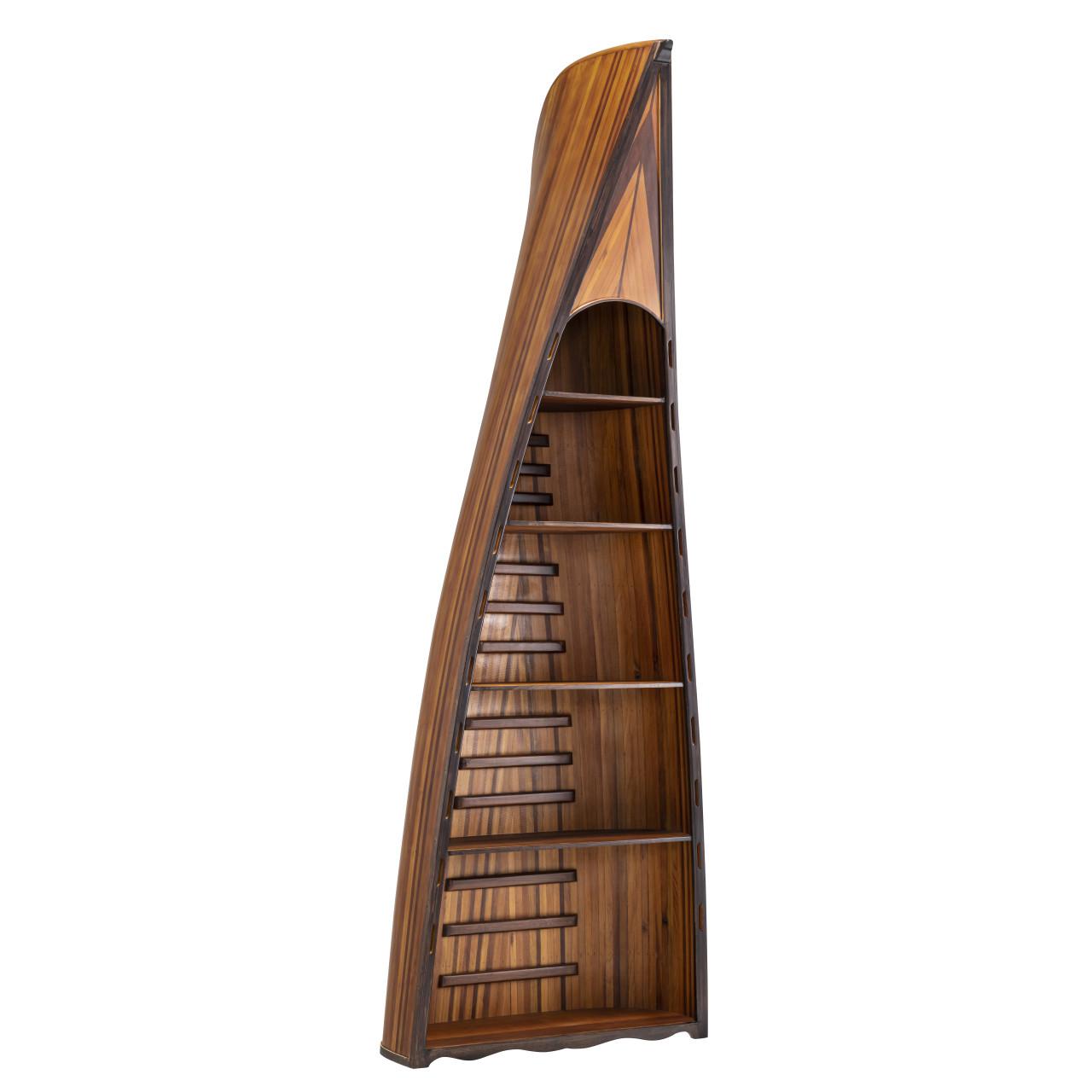 Canoe Bookcase Book Shelf Cedar Wood Strip Built