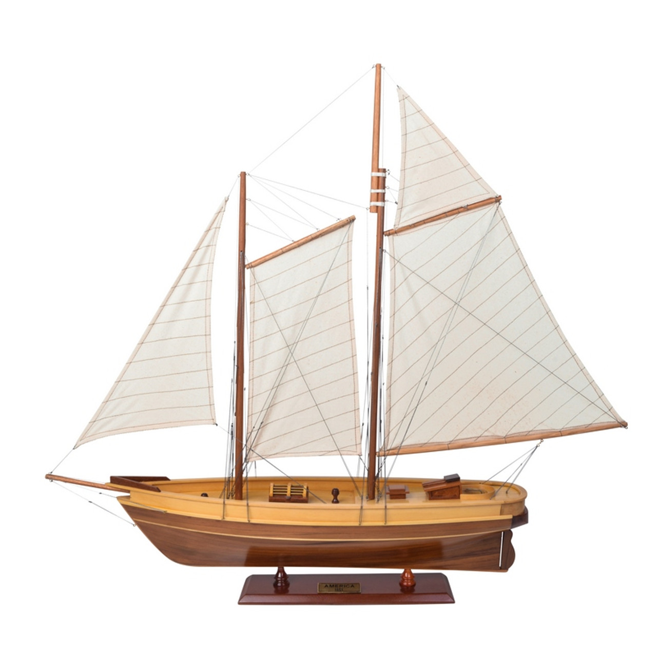 America Yacht Wood Model Americas Cup Sailboat Boat