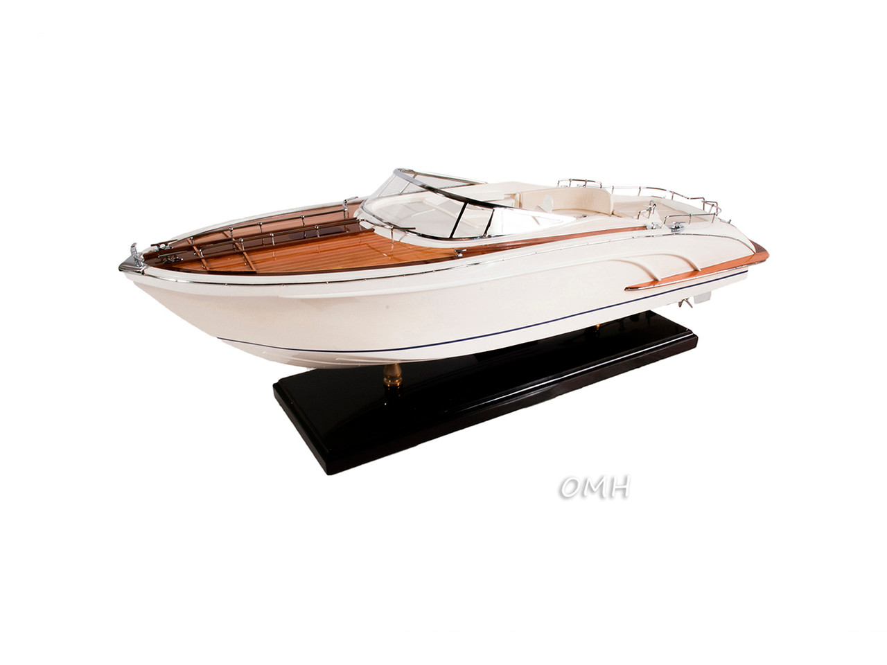 Riva Rivarama White Speed Boat Wooden Model Motor Yacht