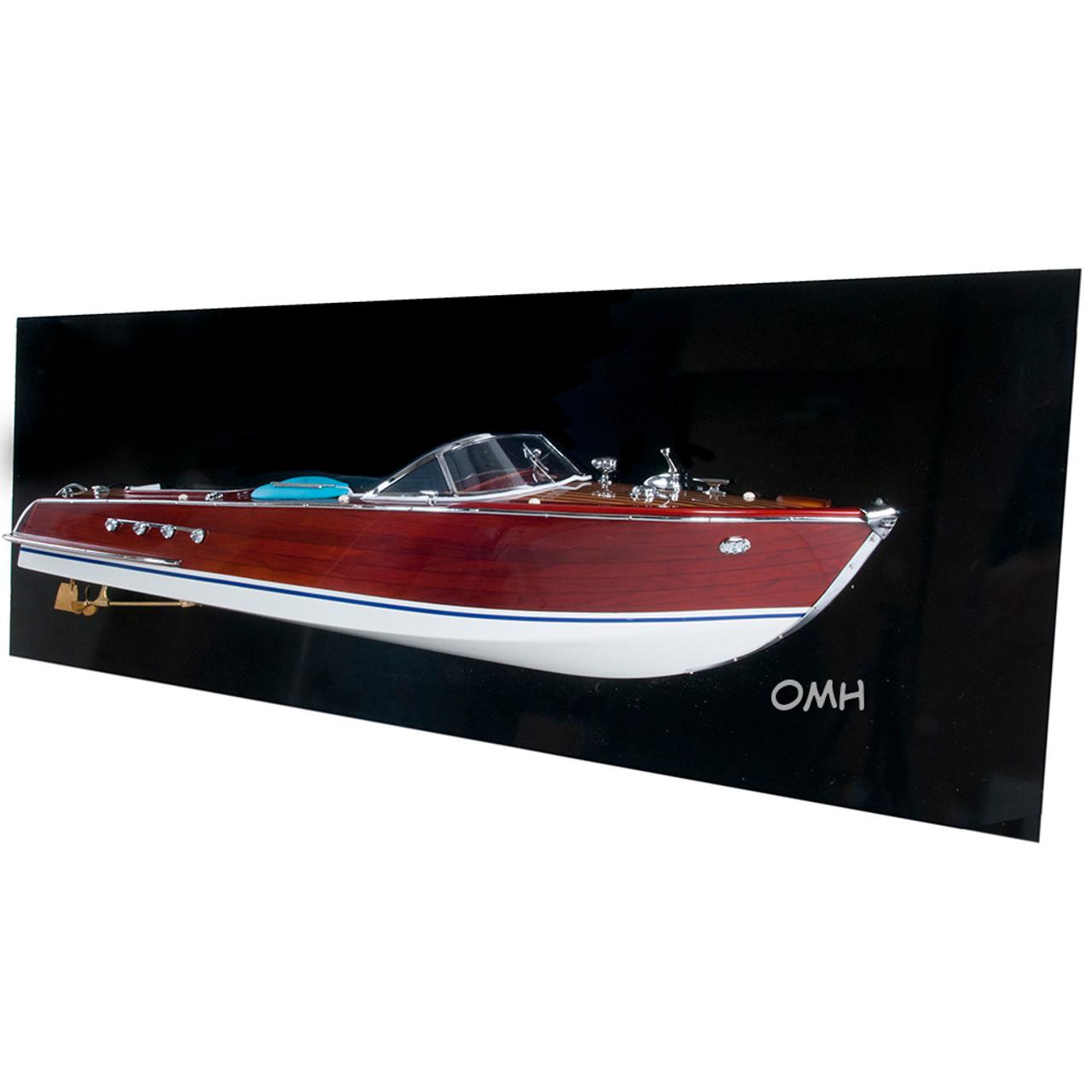 Riva Aquarama Half Hull Model Wooden Italian Speed Boat