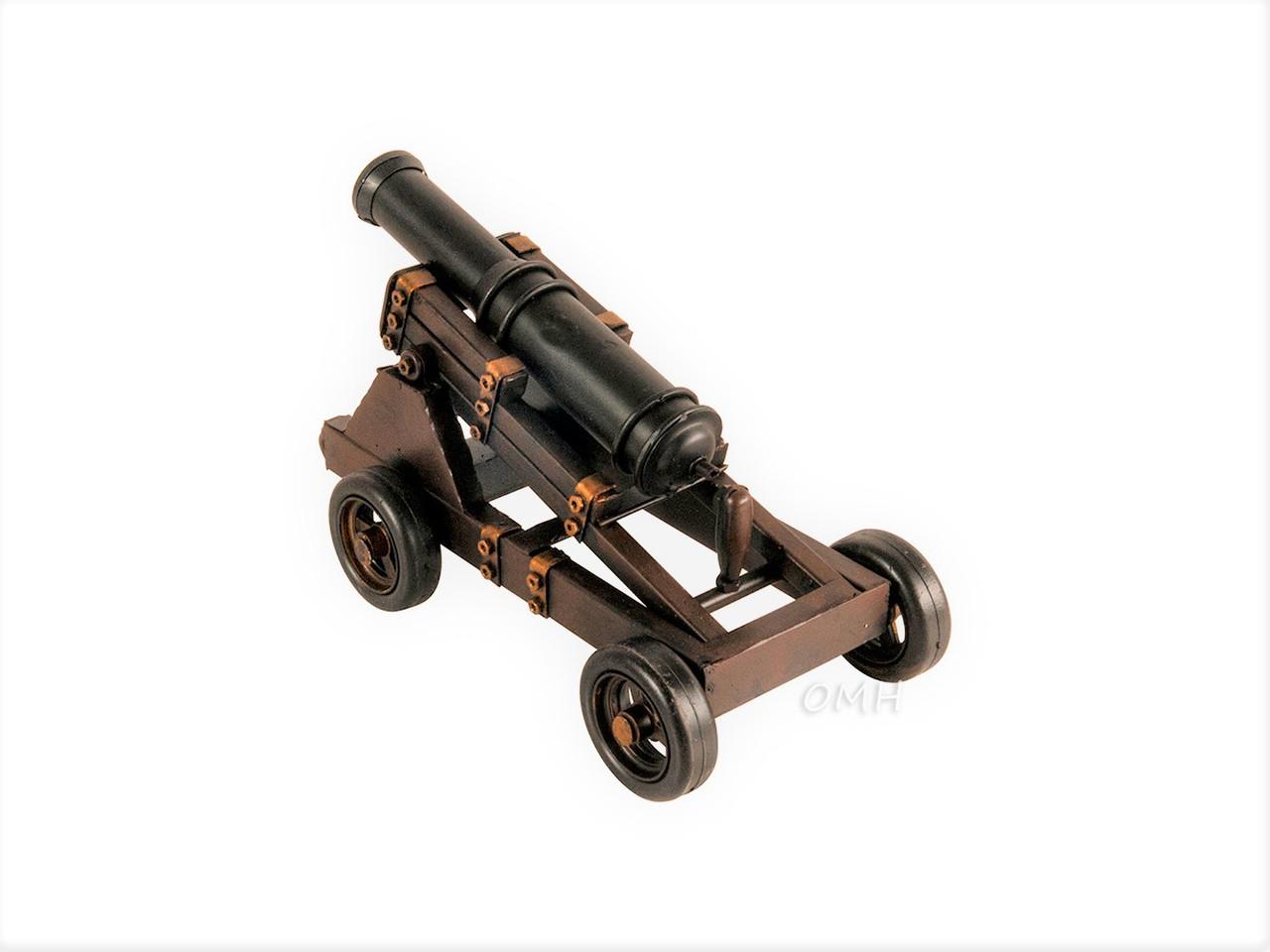 Sur Roues Grandeur Nature Artillery Cannon Metal Model French