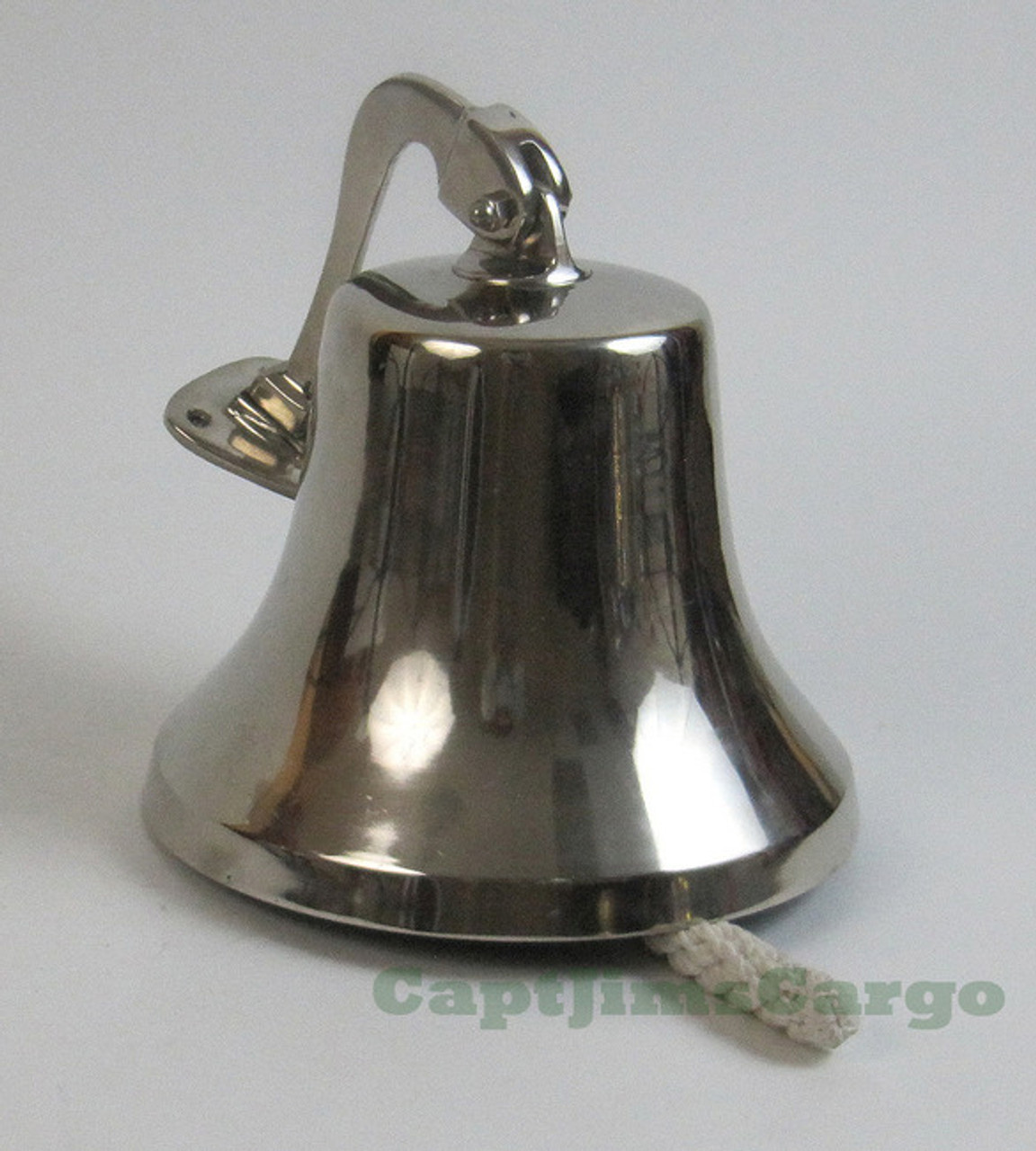 """Solid Aluminum Ship/'s Bell 6/"""" Chrome Finish Nautical Hanging Wall Decor New"""