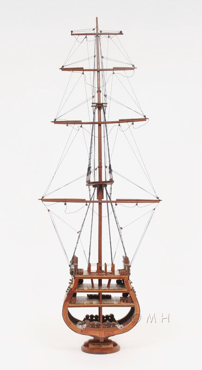 Constitution Cross Section Wooden Model Old Ironsides