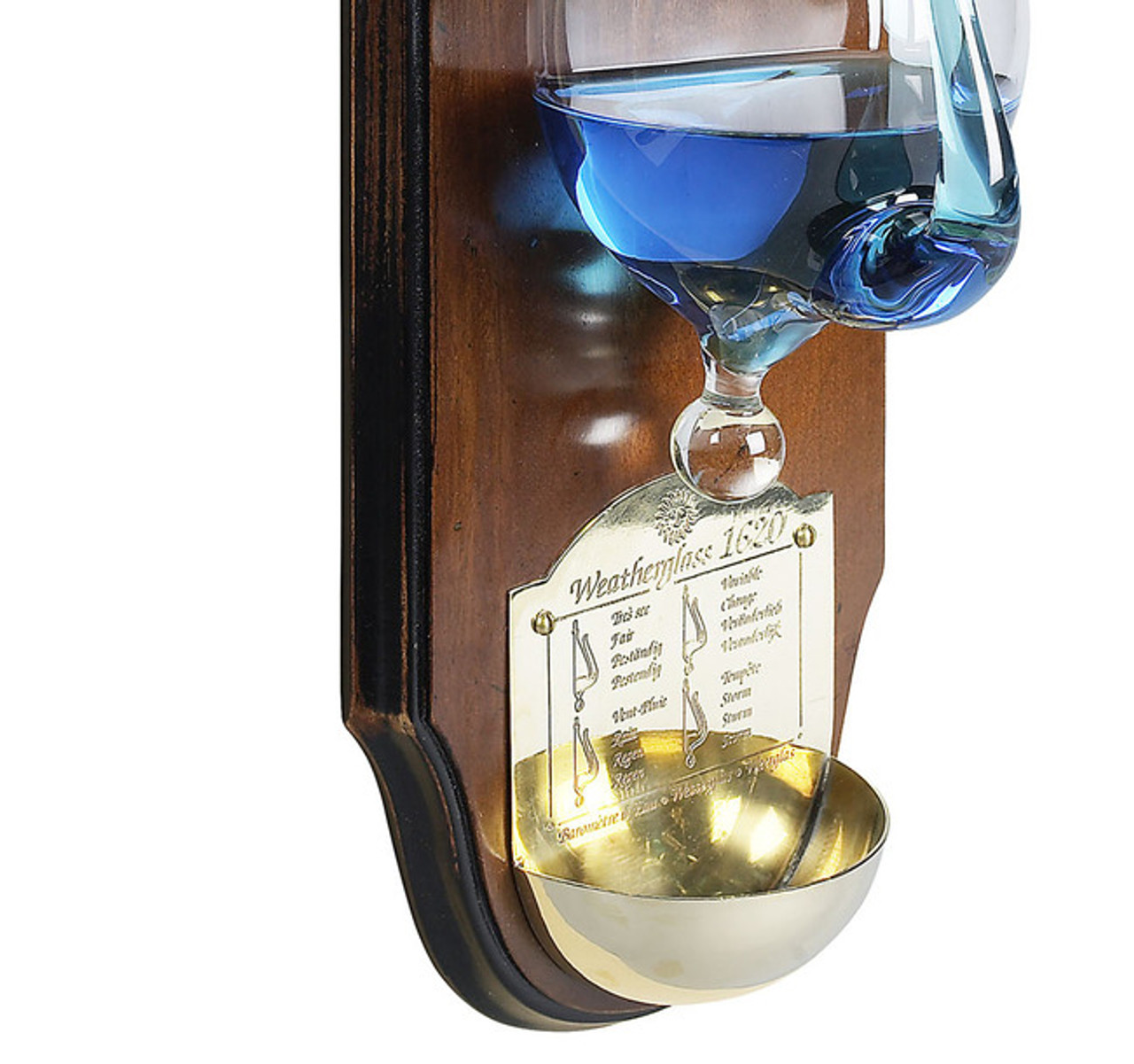 Weather Storm Glass Wall Plaque Barometer Instrument