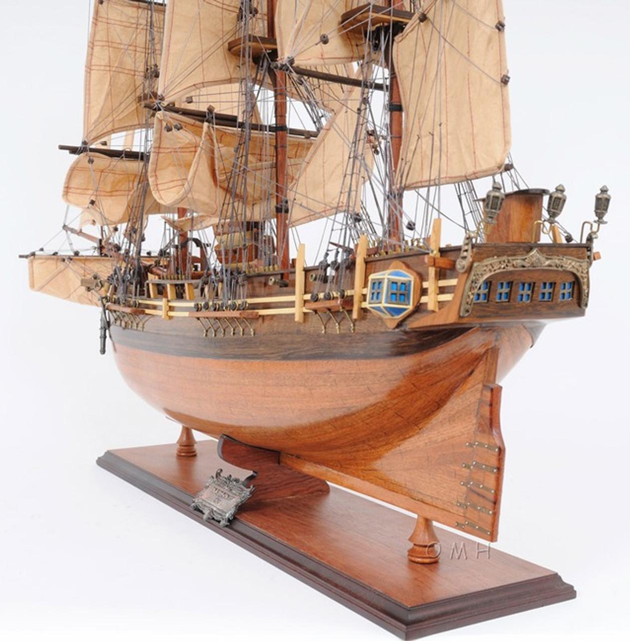 Hms Bounty Wooden Tall Ship Model 37 Sailboat William Bligh Boat Captjimscargo
