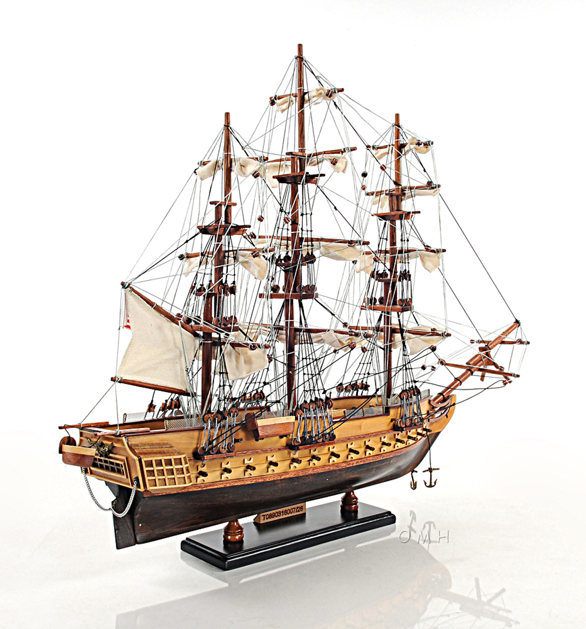 Constitution Wooden Tall Ship Model Old Ironsides