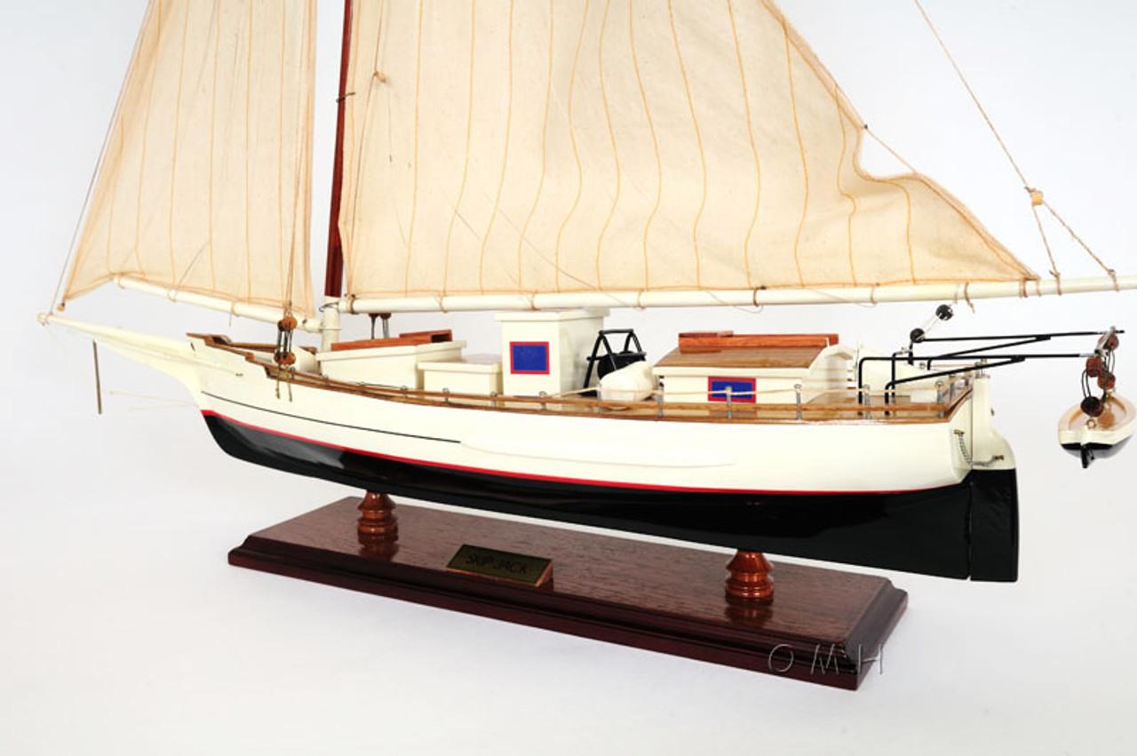 """Chesapeake Bay Skipjack Skip Jack Wooden Model 29/"""" Maryland Oyster Dredging Boat"""