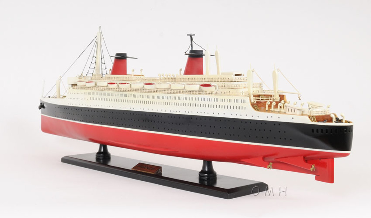 SS France Ocean Liner Wooden Model French Cruise Ship