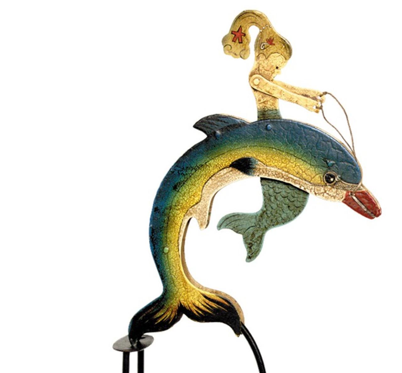 Mermaid Sky Hook Dolphin Tin Balance Toy
