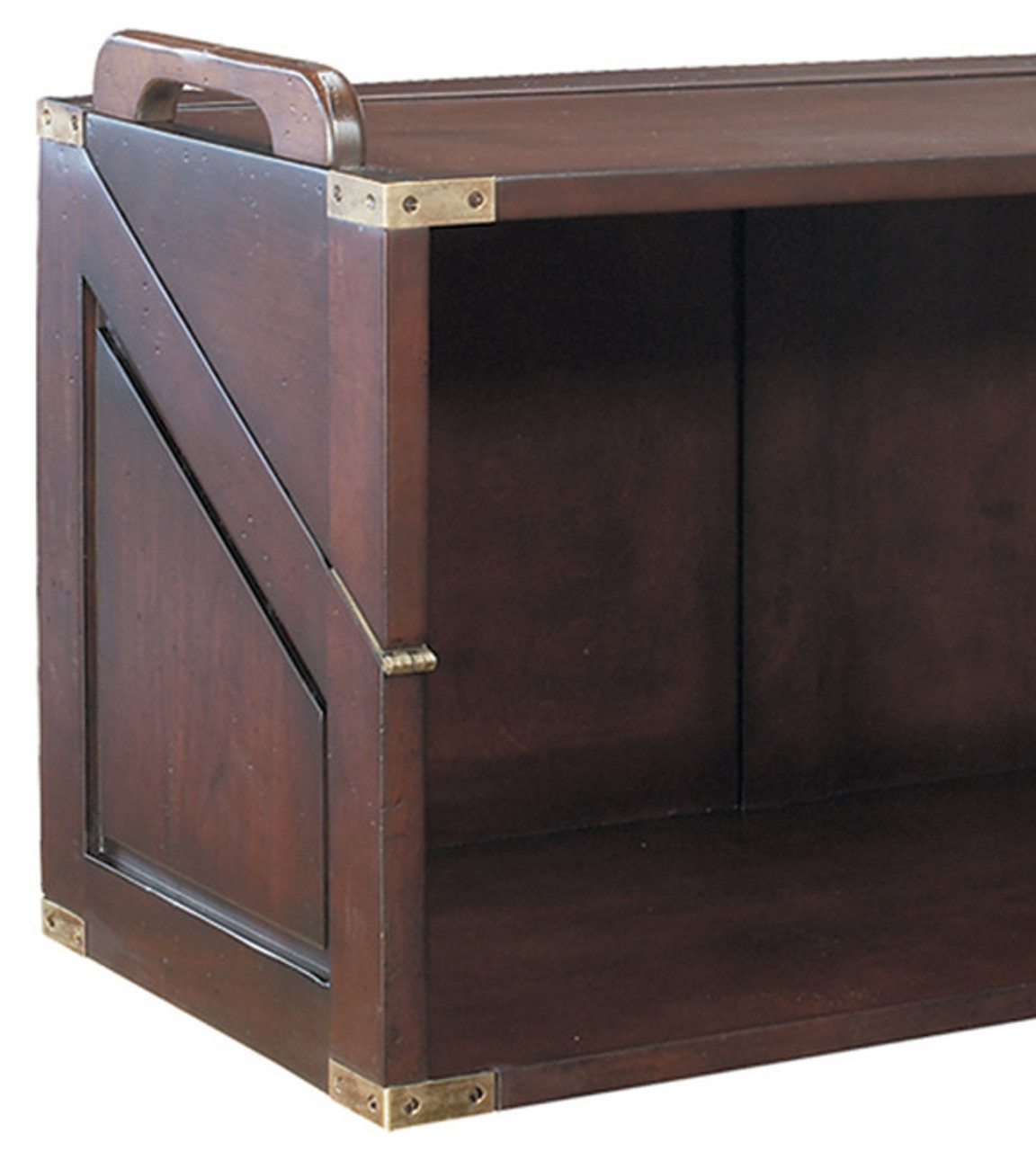 "Campaign Style Stacking Unit Desk 32"" Wood Bookcase"