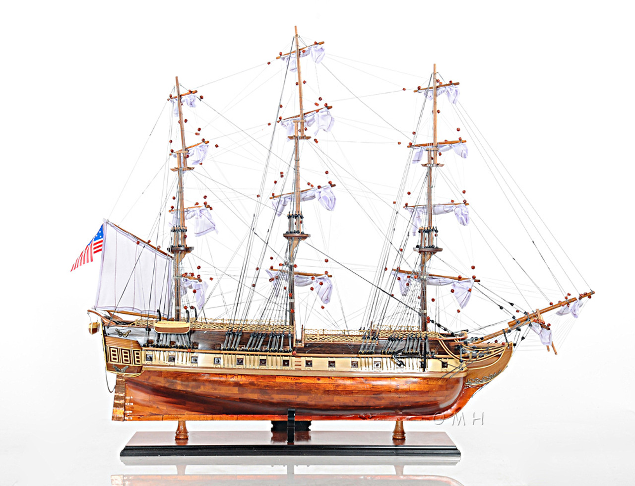 USS Constitution Copper Bottom Model Old Ironsides