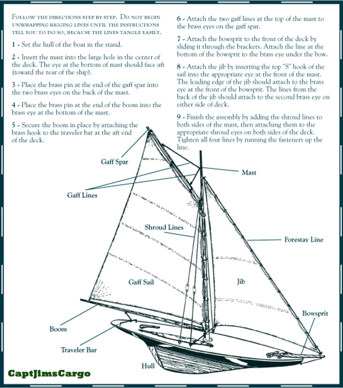 Pond Yacht Rigging