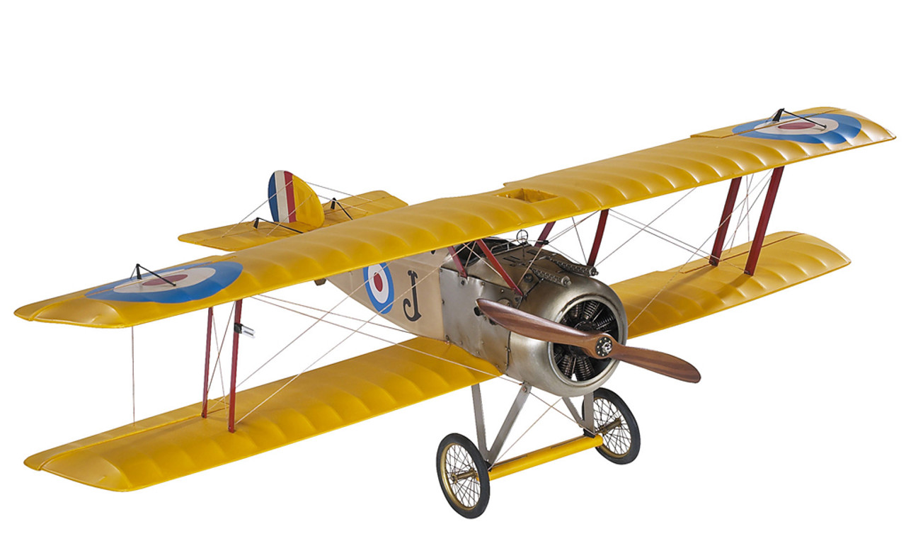 WWI Sopwith Camel British Biplane Wood Model