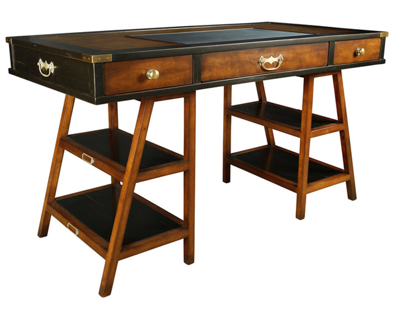 Wooden Navigators Office Desk Black Authentic Models