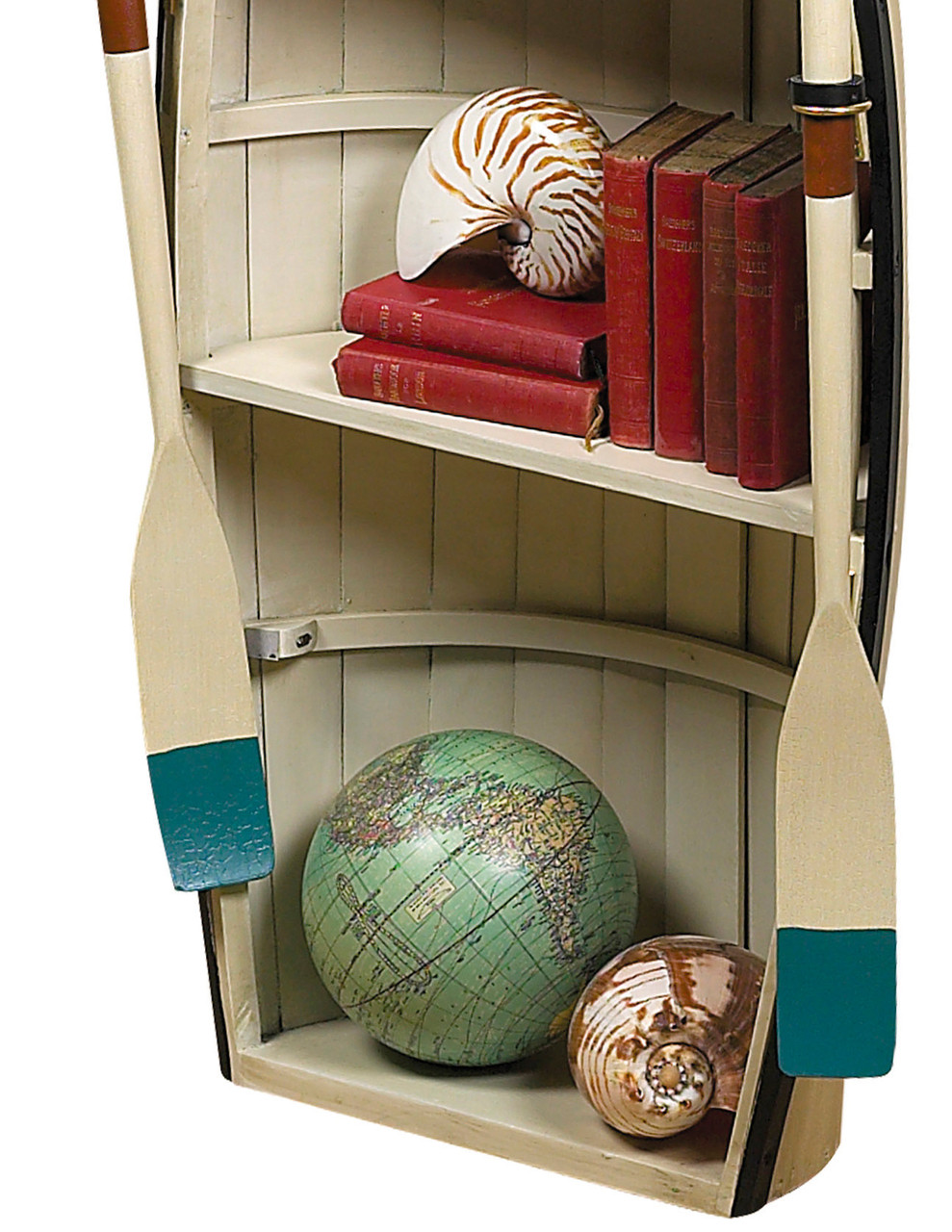 Dory Bookshelf Or Glass Table 47 Wood Rowing Boat Bookcase Shelf