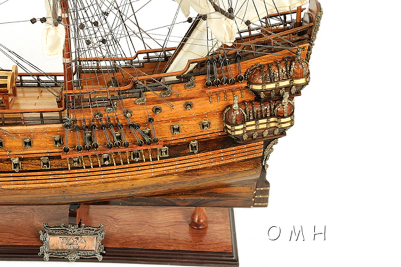 Swedish Vasa Wasa Wooden Model Tall Ship