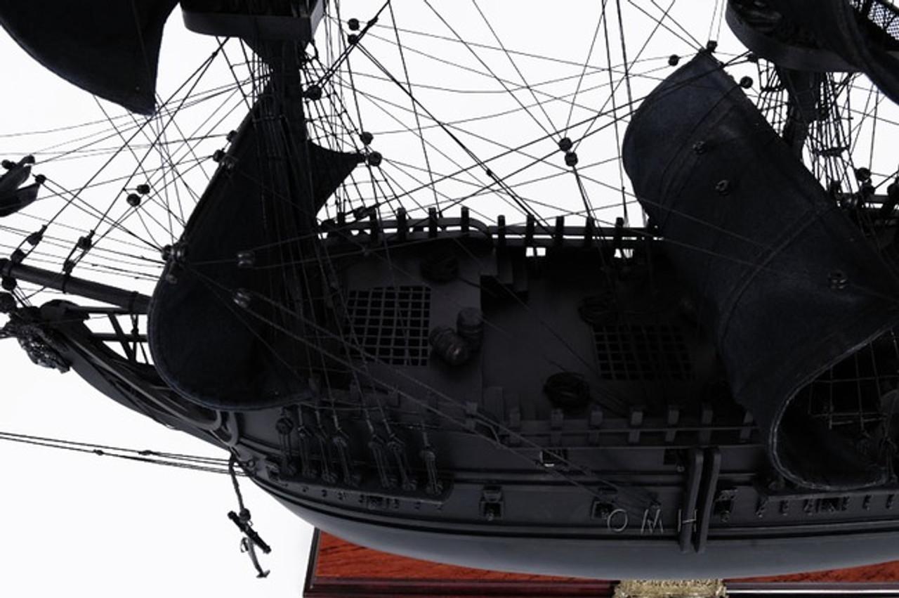 Black Pearl Caribbean Pirate Ship Model Sailboat