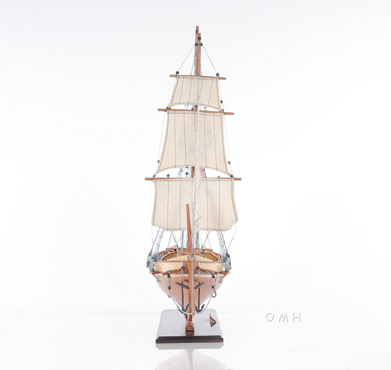 Harvey Baltimore Clipper Wood Model Privateer Ship