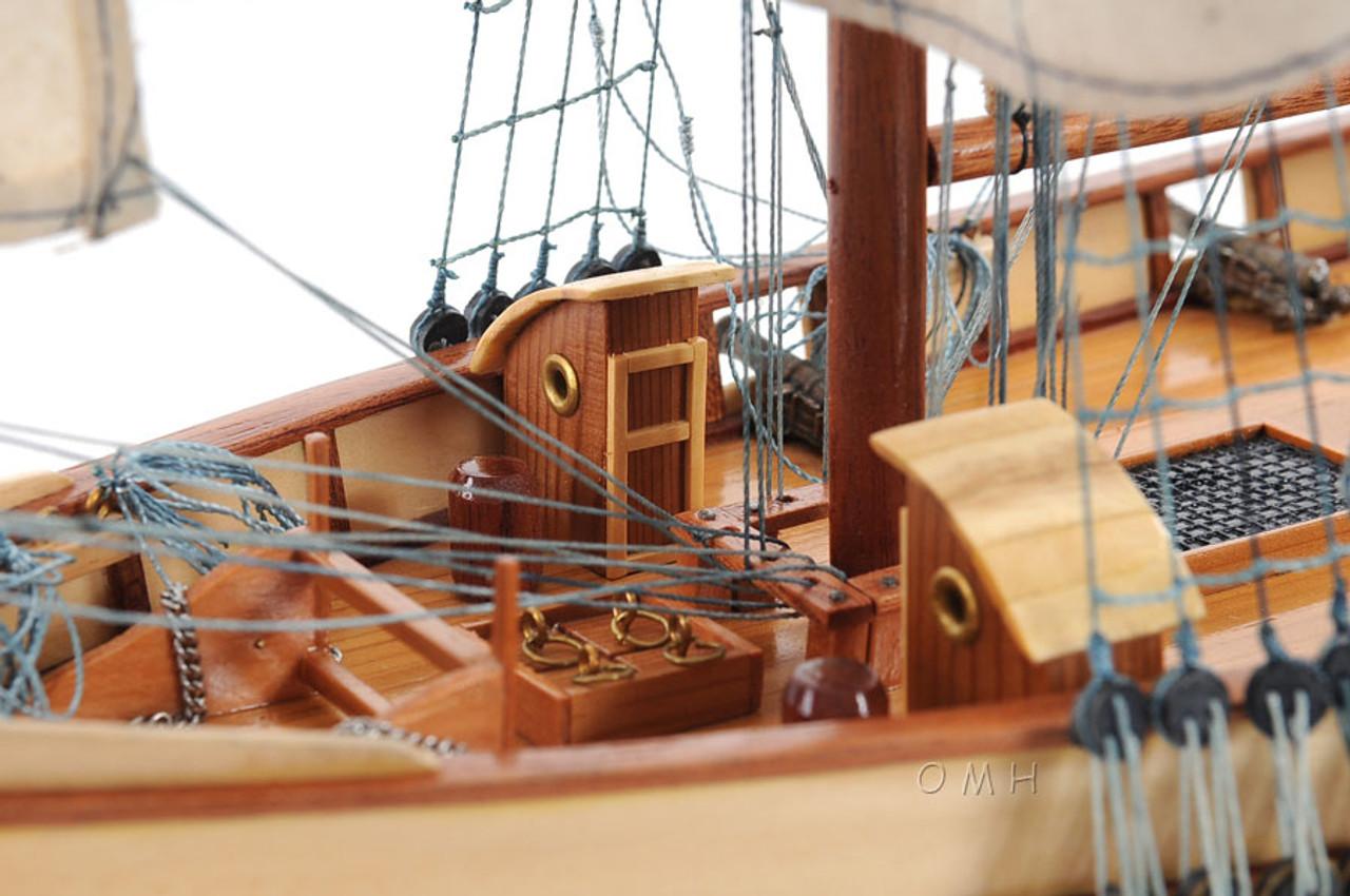 Harvey 1847 Wood Model Privateer Ship