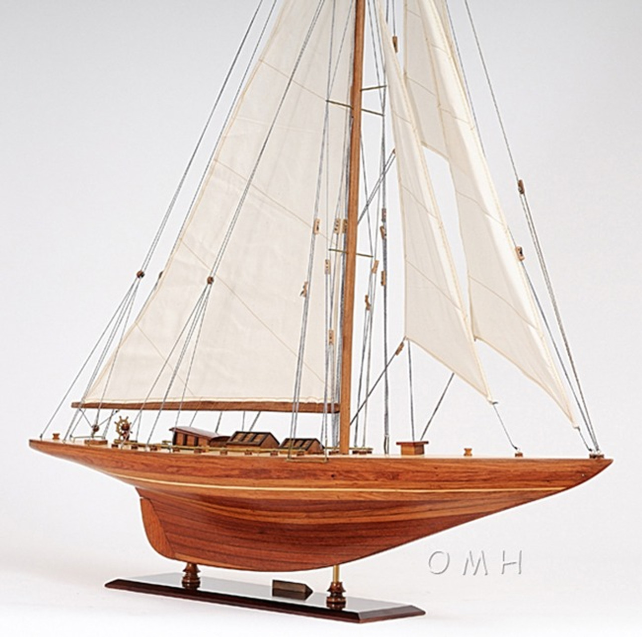 Shamrock V America's Cup Yacht Wooden Model