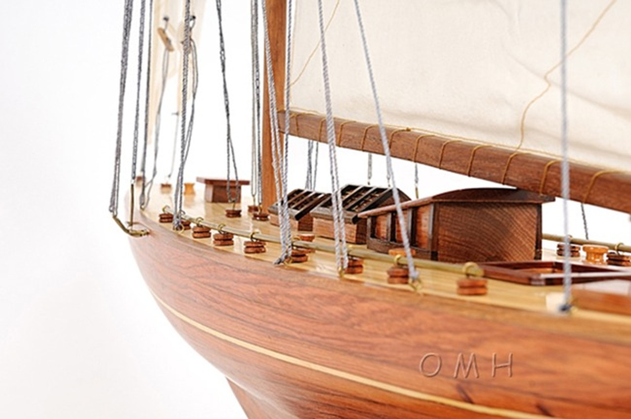 Shamrock V America's Cup Yacht Model Sailboat