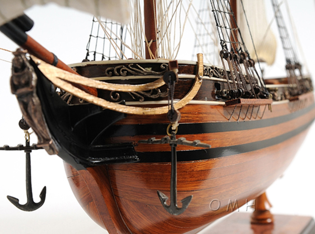 Spanish El Cazador Treasure Ship Wooden Model