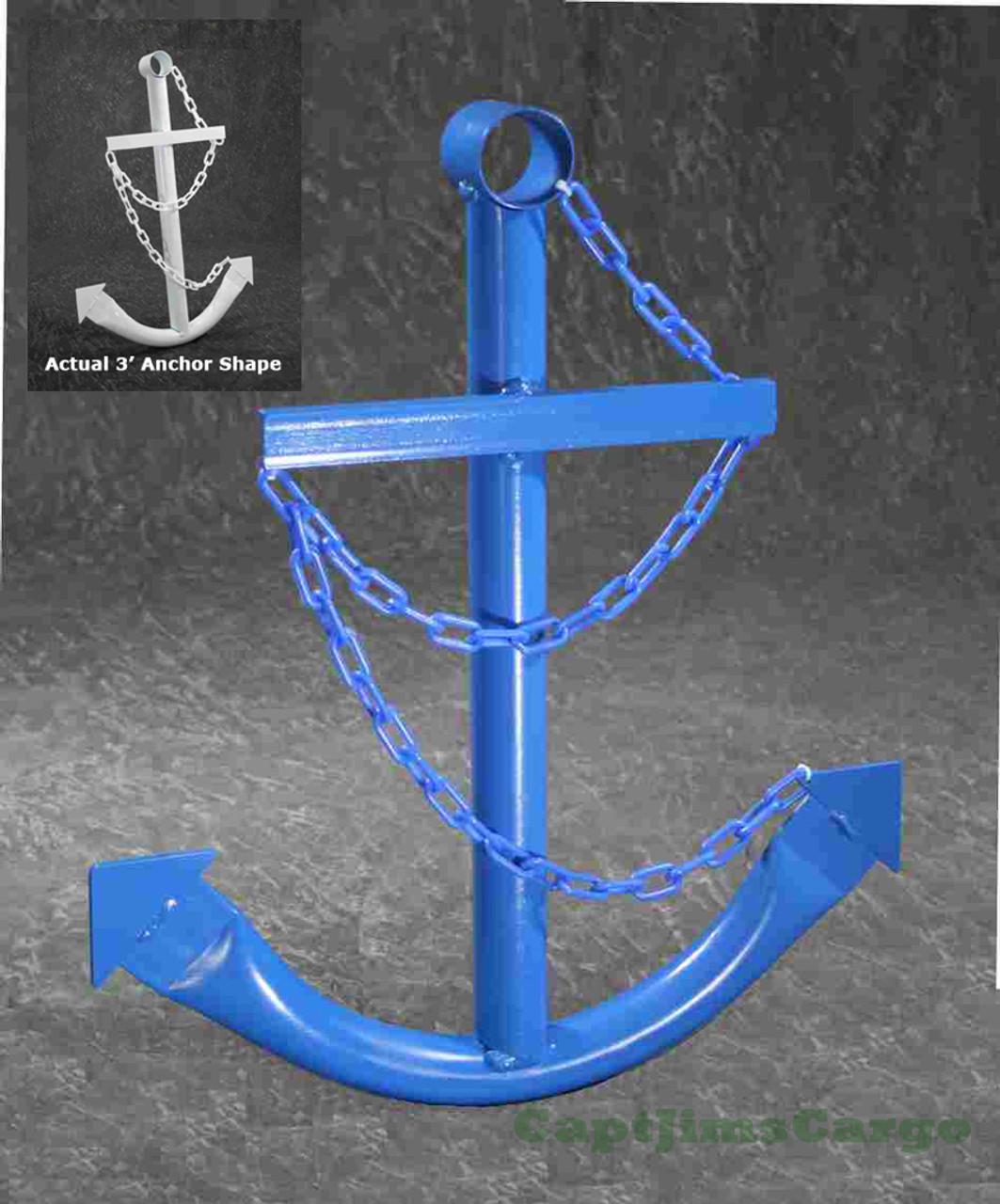 Blue Ships Anchor Metal Nautical Home Decor