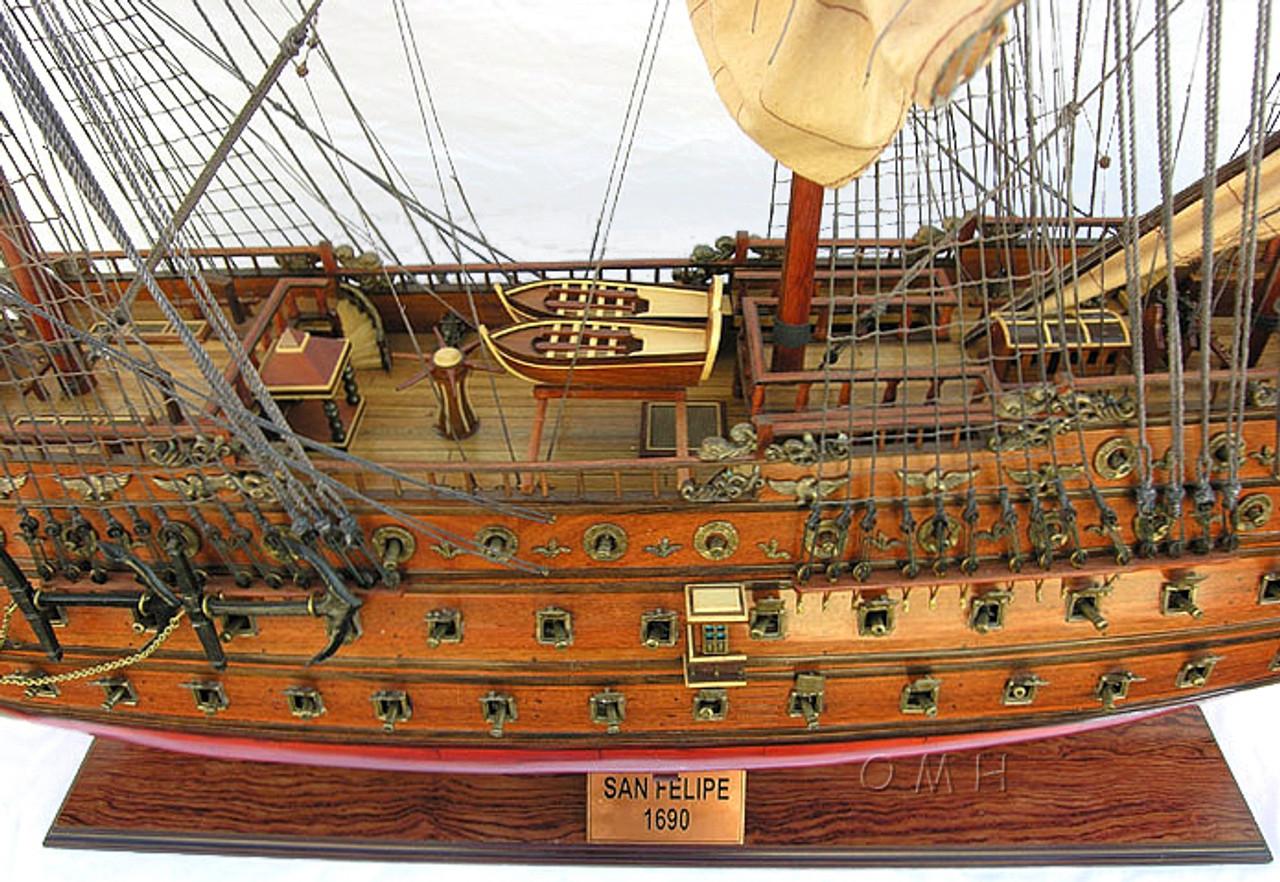 XL Spanish San Felipe Model Tall Sailing Ship